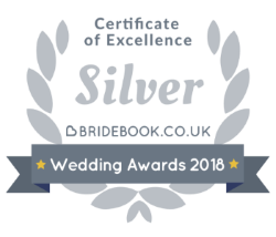 Silver Certificate of Excellence - Bridebook Wedding Awards 2018