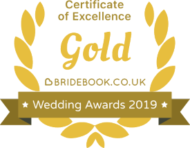 Bridebook Wedding Awards - Gold Winner 2019