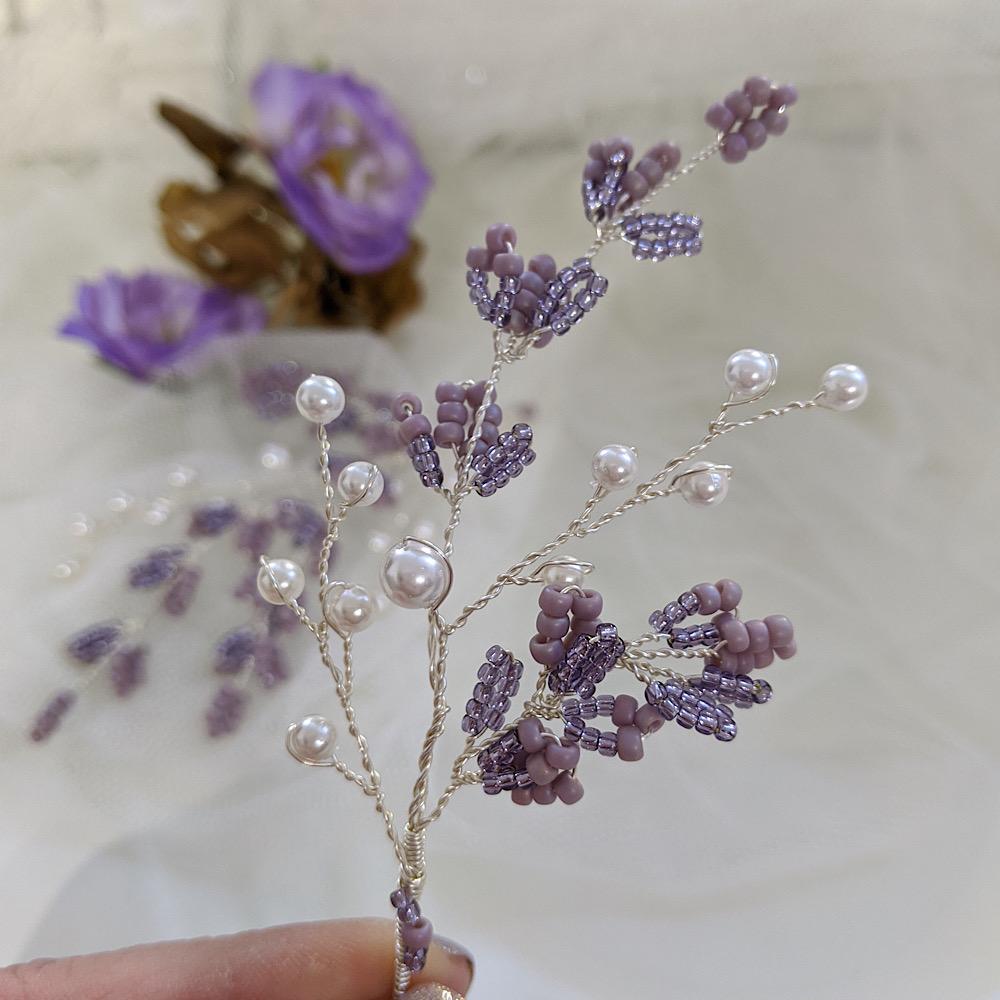 Lavender and Pearl Mini Vine Duo