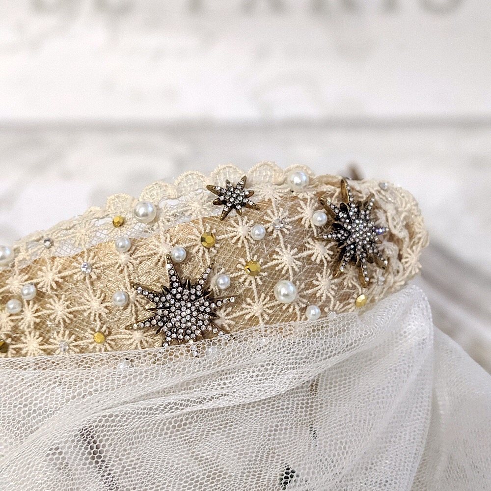 Crystal Gold Celestial Star Headband