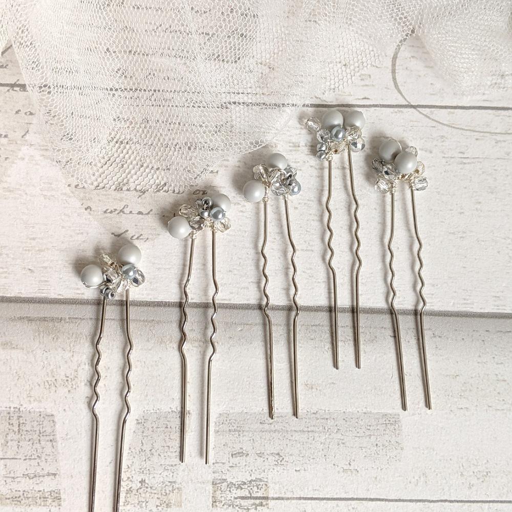 Grey Cluster Pin Set