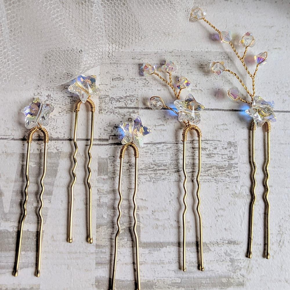 Sparkle Swarovski Star Pin Set