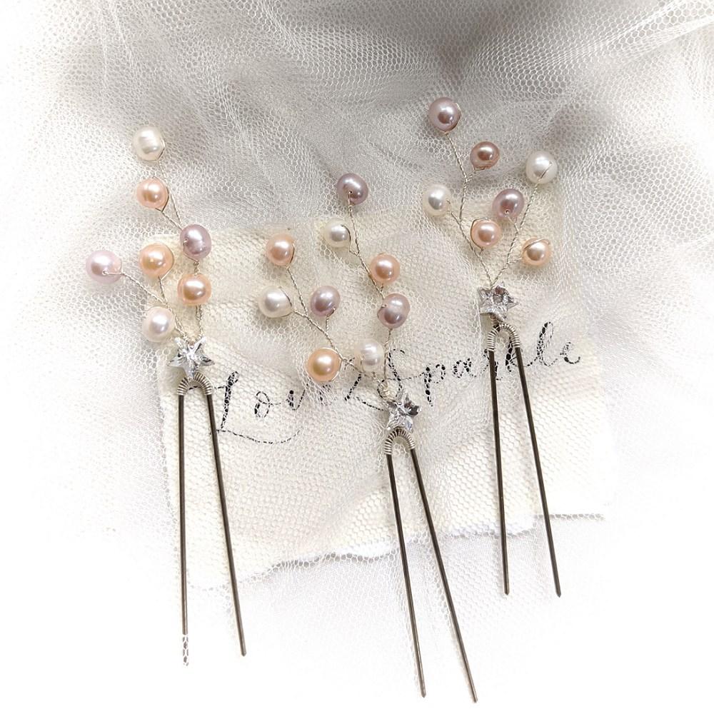 Swarovski Star and Pearl Pin Set (3)