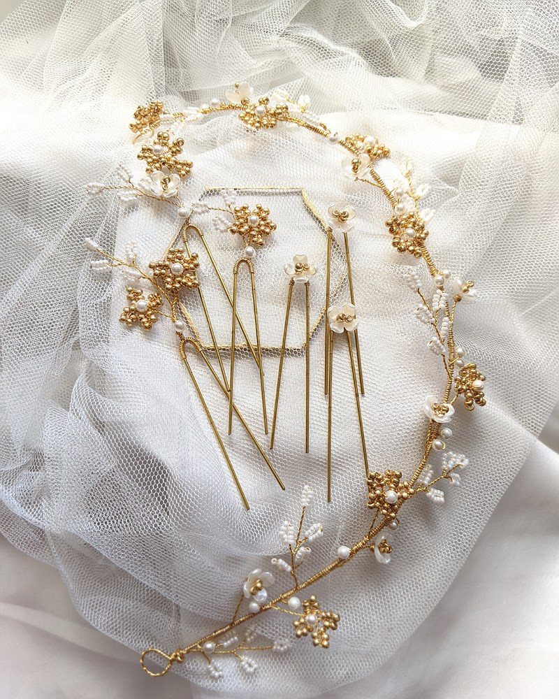 Gold Flower Mix & Match Set