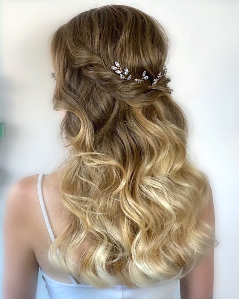 Cubic Zirconia accessories in braided hair style