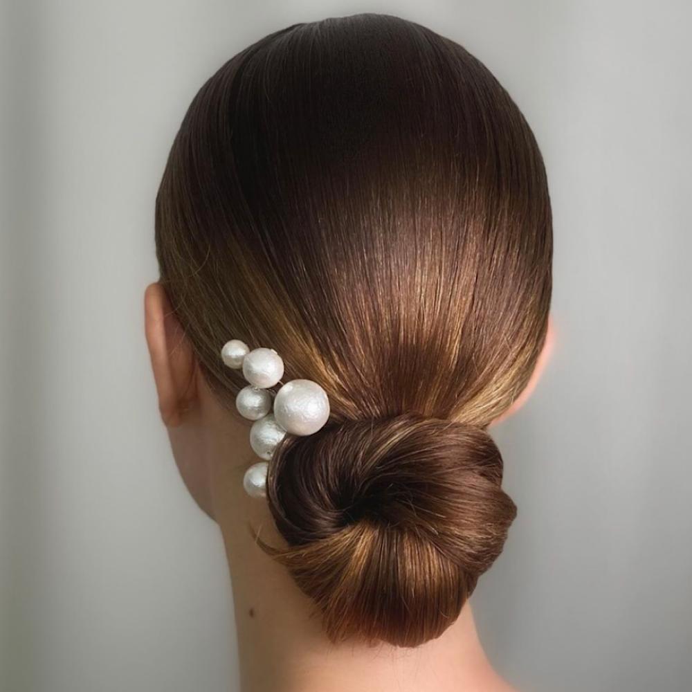 Cotton Pearl Hair Pin Set