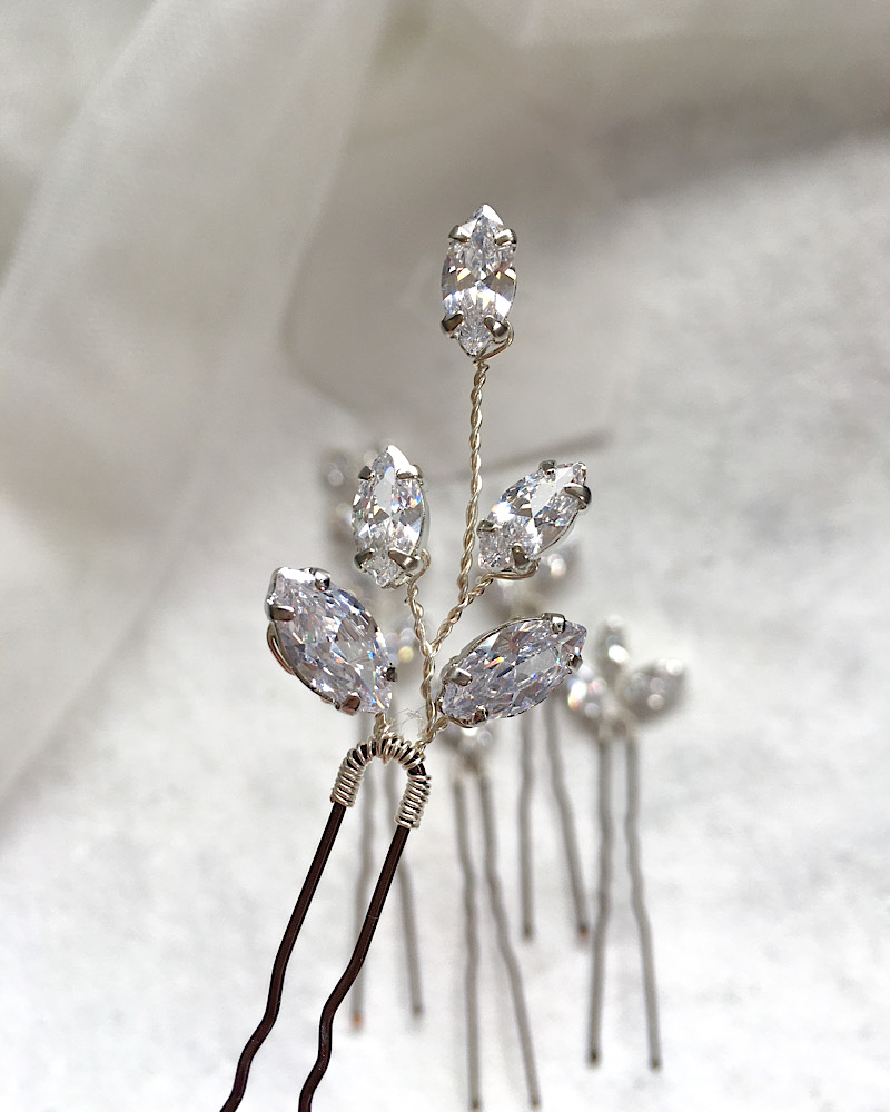 Cubic Zirconia Hairpin Set