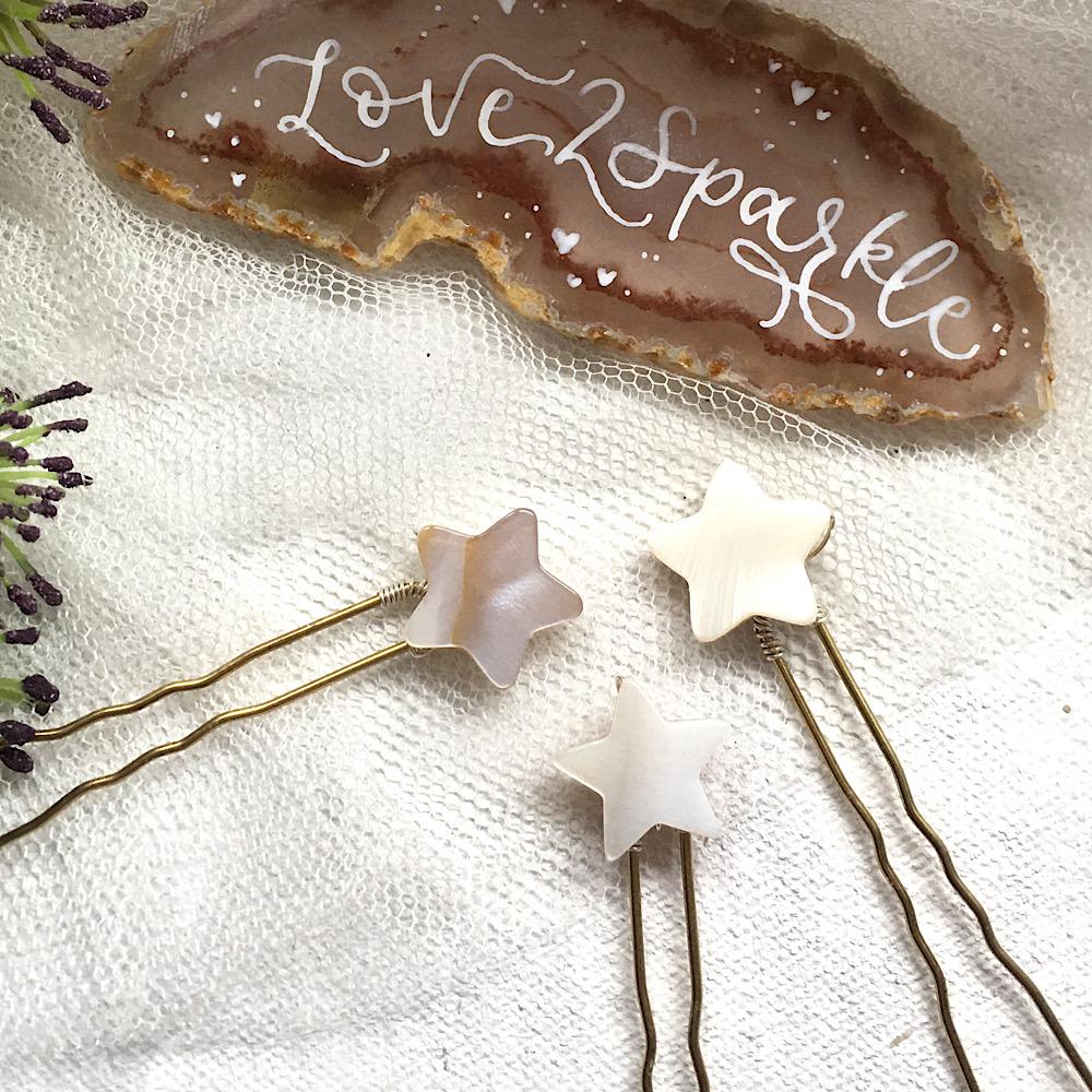 Natural Shell Celestial Star Pins