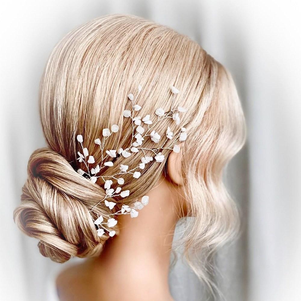 Snow Quartz Hair Pins (Set of 3)