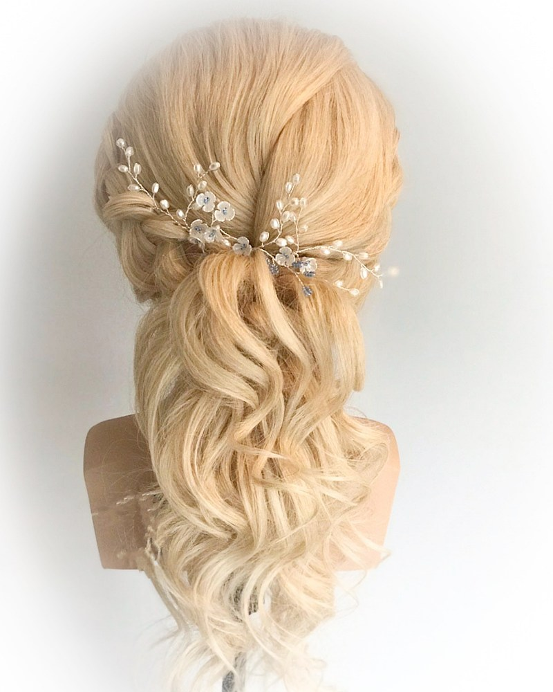 Something Blue Pearl Hair Pins (Set of 3)