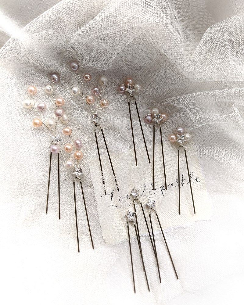 Swarovski Star and Pearl Pin Set (3)